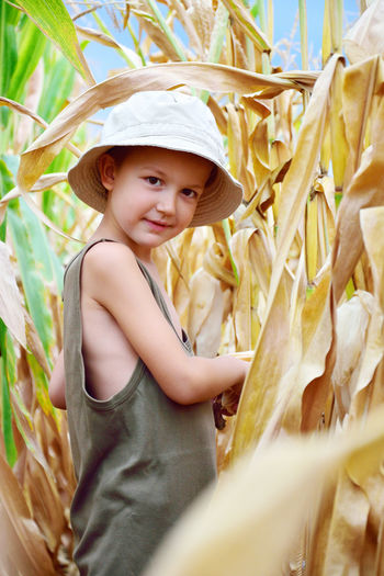 Agriculture Boy Child Childhood Cornfield Day Face Fun Human Kid Kid Photography Kid Portrait Nature One Person Outdoors Person Portrait Smiling Summer Young Adult