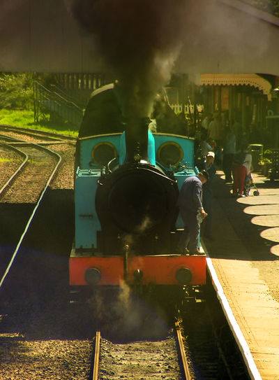 They have several week-ends in the year where they have different steam trains running and is popular in the summer months #steam Train #Thomas The Tank Engine #train Station Adult Adults Only Day Outdoors People Smoke - Physical Structure Steam Train Train - Vehicle Transportation