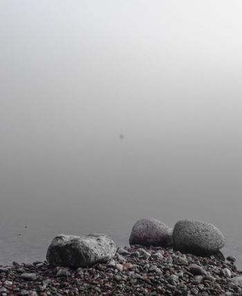 The buoy MADE IN SWEDEN Fog Over Water Buoy Foggy Morning
