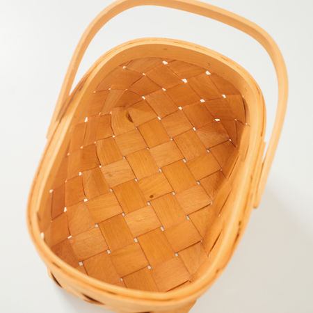 Basket Brown Close-up Container Cut Out High Angle View Household Equipment Kitchen Utensil Single Object Studio Shot White Background Wood - Material