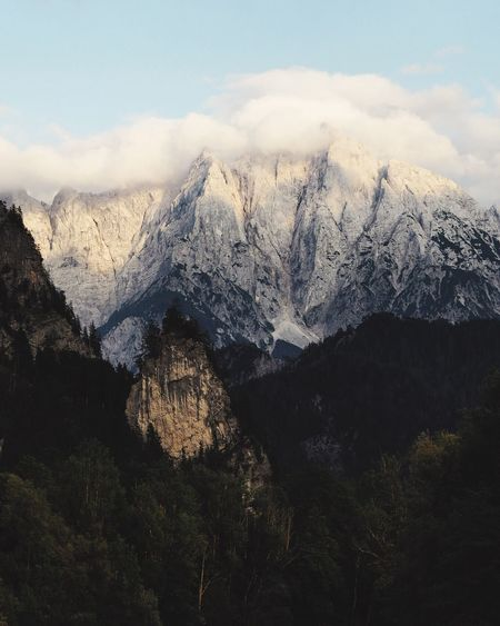 Mountain Beauty In Nature Nature Snow Scenics Landscape Wilderness Mountain Peak No People Mountain Range Tranquility Outdoors Snowcapped Mountain Day Winter Cold Temperature Sky Scenery Gesäuse Österreich Mountains And Sky Mountain View