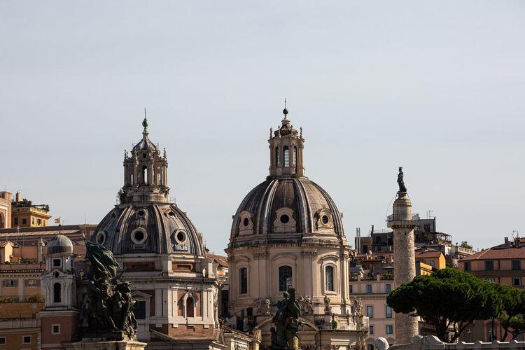 Dome of santa maria di loreto church near venezia square, rome, italy