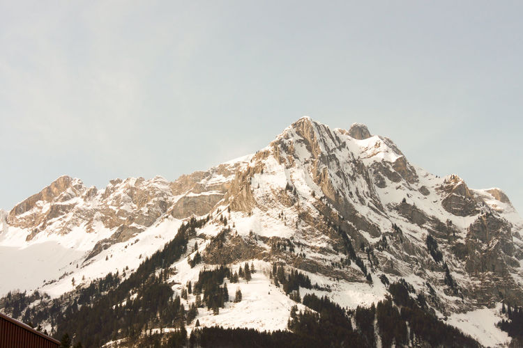 Beauty In Nature Clear Sky Cold Temperature Day Engelberg Environment Formation Height High Landscape Mountain Mountain Peak Mountain Range Nature No People Range Rock Scenics - Nature Sky Snow Snowcapped Mountain Titils Tranquil Scene Tranquility Winter