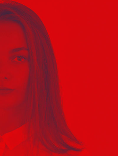 Portrait One Person Headshot Indoors  Looking At Camera Young Women Hairstyle Young Adult Red Studio Shot Long Hair Hair Colored Background Beauty Women Beautiful Woman Red Background Adult Contemplation Human Hair Human Face Teenager Modern Monochrome