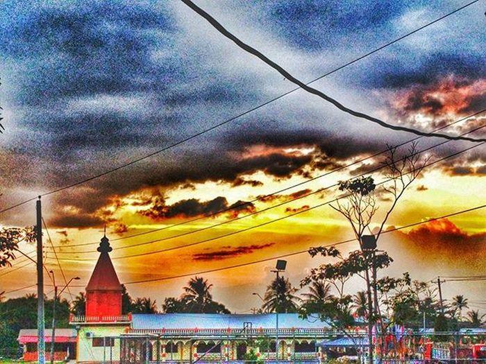 Sunset over Munroe Road Sunset Snapseed Colorsoftheweek Colorsoftrinidad 16tot Trinidadtobago Caribbean WestIndies Tropical