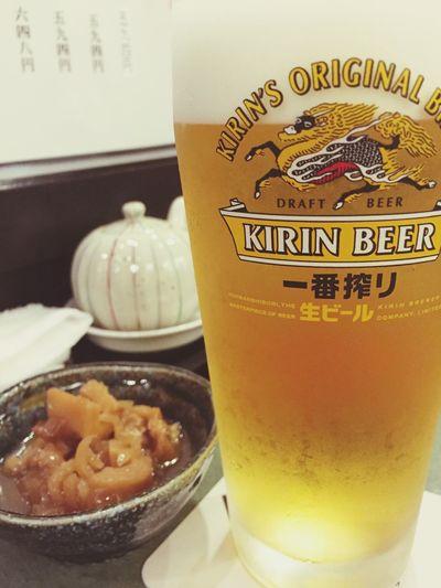 先ずは麦酒で喉を潤し @渋谷松川 BBeer麦麦酒bBeer Time