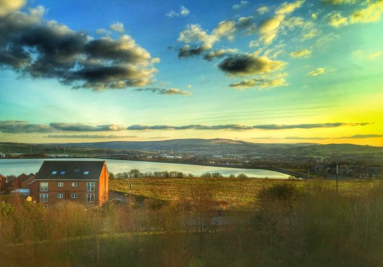 Lancashire countryside Landscape Lancashire Water Countryside Sky Sunset Green Sun Sunshine