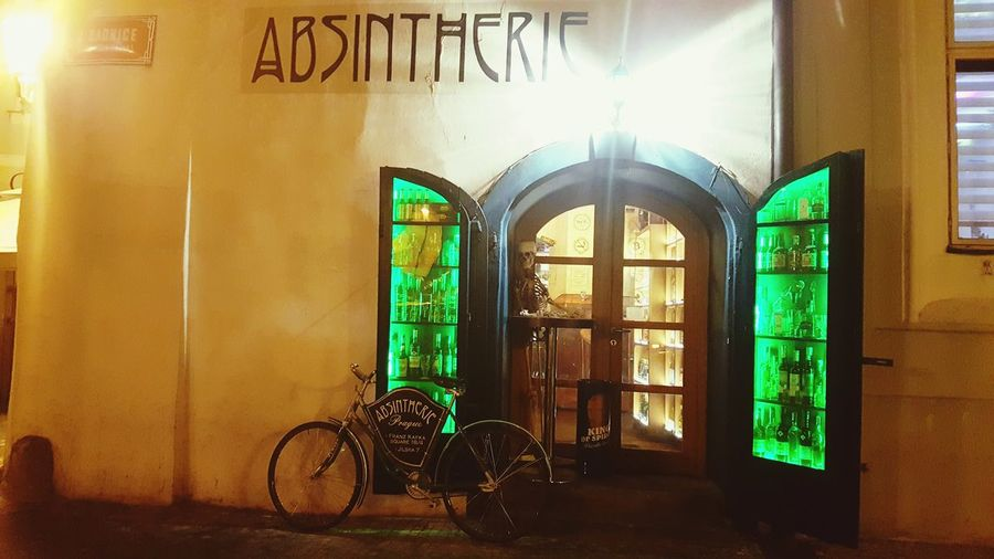 Bicycle Door Window Architecture Building Exterior City Absinthe Absinthegreenfairy Vintage