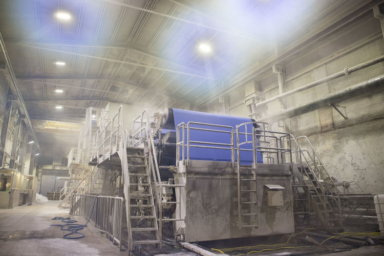 Industry Factory Indoors  Architecture Illuminated Built Structure No People Lighting Equipment Staircase Metal Abandoned Metal Industry Low Angle View Technology Industrial Building  Building Manufacturing Equipment Machinery Manufacturing Ceiling Industrial Equipment