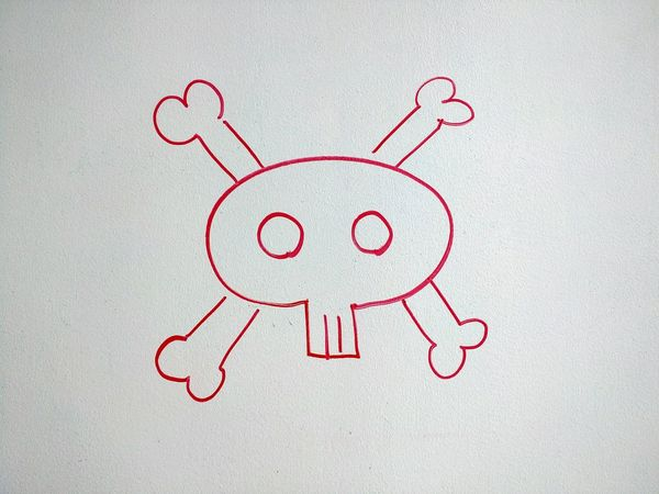 Skulls And Bones Wall Art Workspace White Board