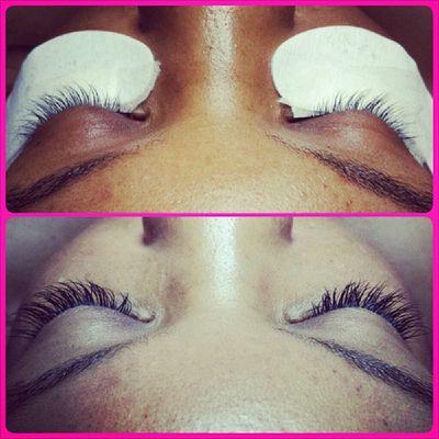 AD's pretty new lash extensions! Simplebeautylashspa Novalash Lashextensions