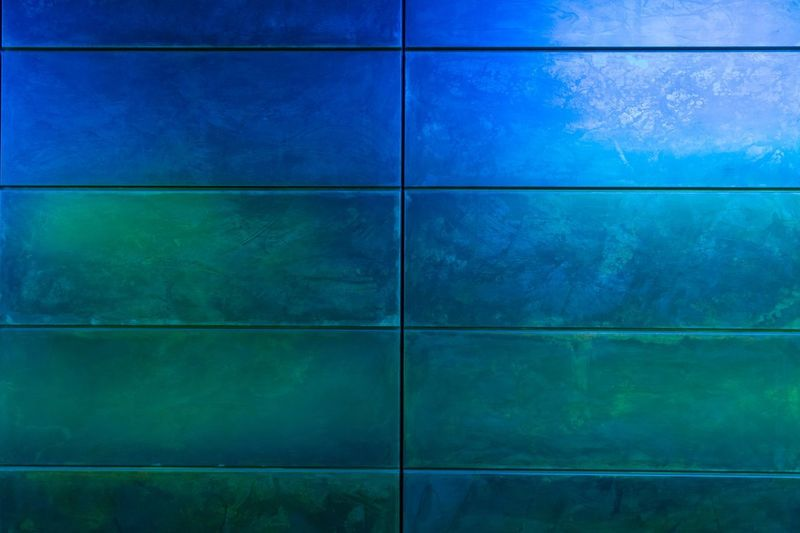 Wall U-Bahn Station HafenCity Hamburg Hamburg Station U-Bahnhof Wallpaper Blue Backgrounds Pattern No People Built Structure Architecture Textured  Full Frame Green Color Flooring Technology Wall - Building Feature Outdoors Shape Abstract Geometric Shape Nature Day Close-up