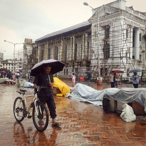 Rain People Basantapur Worldheritagesite Streetphotography_color Mobilography Streetphotographers Nepal