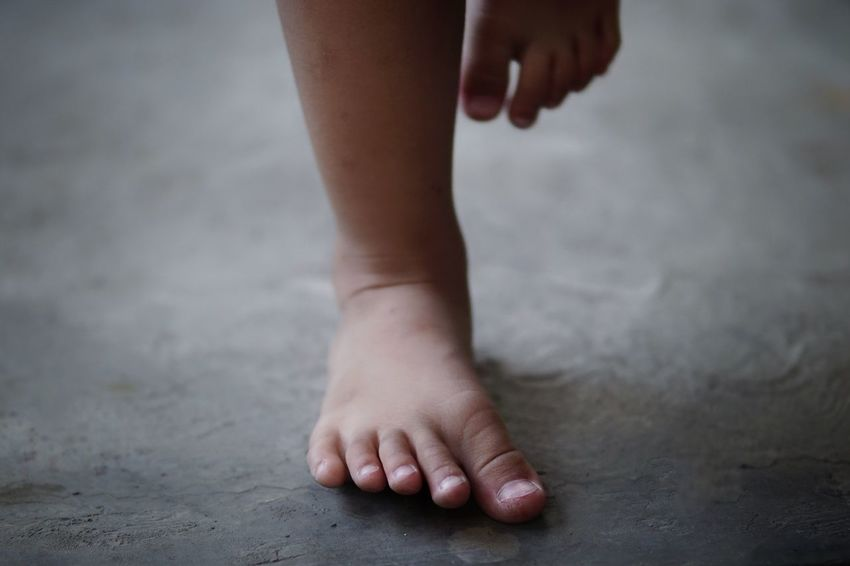 Baby Legs Baby Childhood barefoot One Person Low Section Indoors  Real People Child