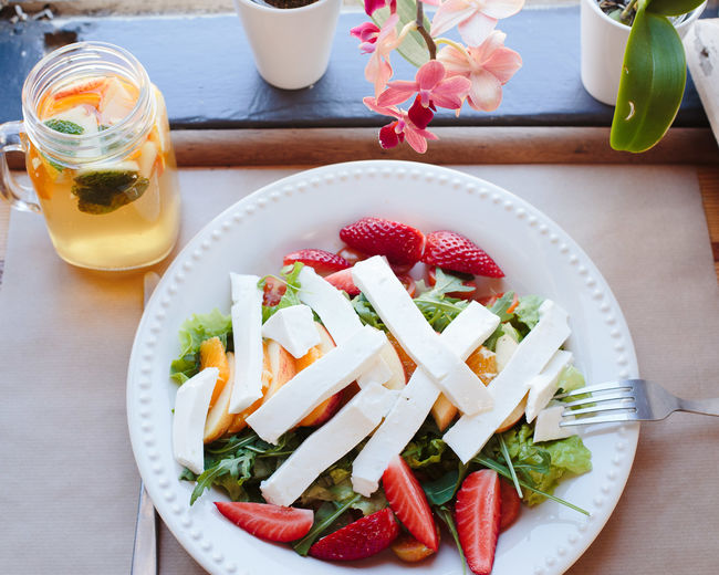 sweet beaty Bowl Close-up Day Drink Flower Food Food And Drink Freshness Fruit Healthy Eating High Angle View Indoors  Nature No People Plate Ready-to-eat Salad Strawberry Table