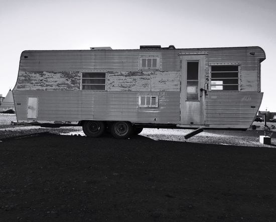 """Better Days on Route 66"" Trailer Trailerpark Trailer Park Trailers Traveltrailer Travel Trailer Old Trailer Blackandwhite Black And White Blackandwhite Photography"