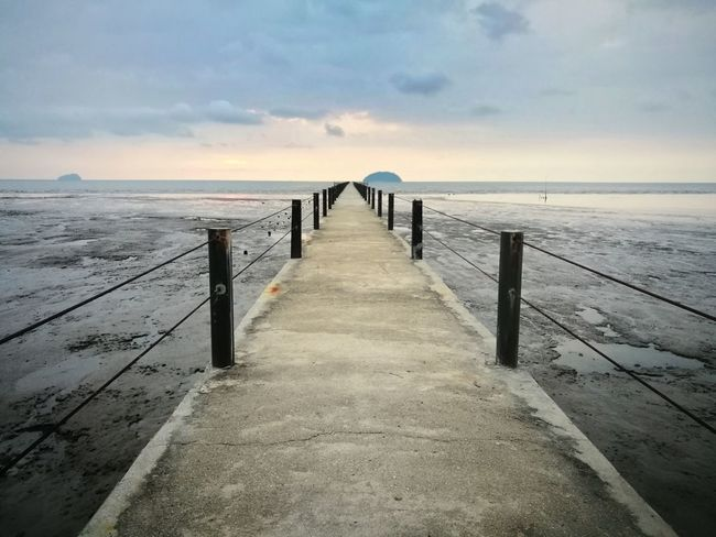 Pantai Murni Waterfront Pier Sea Beach Pier Nature Landscape Water Outdoors Beauty In Nature The Way Forward Horizon Over Water Bridge - Man Made Structure Malaysia Photography Leicadualcamera Mobile Photography HuaweiP9 Malaysianphotographer People PhonePhotography Mobilephotography Huawei Malaysia