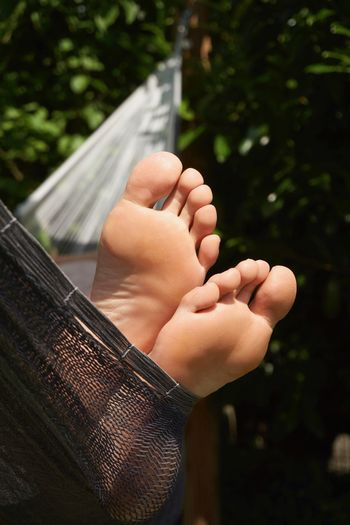 Feet Hammock Lazy Lazy Day Relaxing Summer