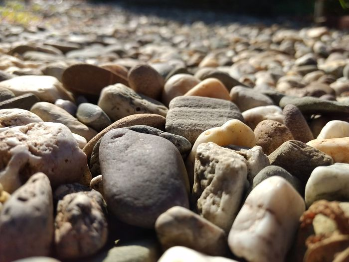 Close-up of stones on pebbles
