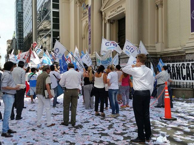Demonstration Manifestación Buenos Aires Caótica