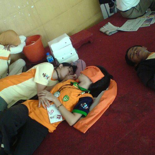 Terkapar lelah LO PON CABOR ANGGAR Instamarinda Samarinda Pon Riau