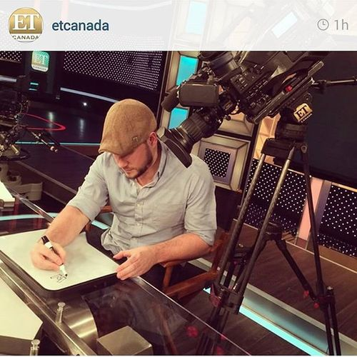 TBT  to that time I was whiteboard sketching it up in the @etcanada studio. Thanks for having me ETCanada .