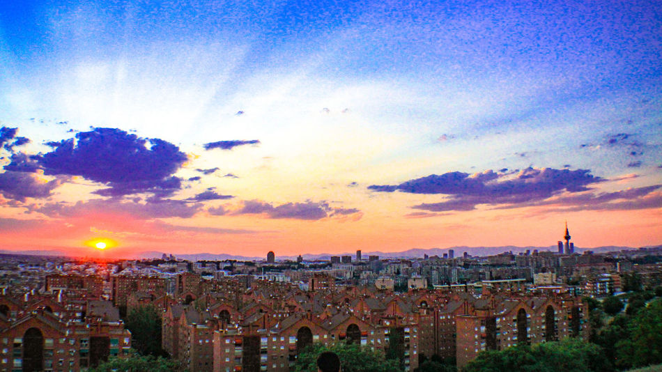 Hidden Gems  Mirador De Vallecas Parque De Las Siete Tetas SieteTetas Madrid Vallecas Madrid, Spain Sunset Cityscapes Cities At Night Check This Out EyeEm Gallery Hidden Treasures Sunset_collection Showcase July Cloud Formations Colour Of Life Adapted To The City The City Light
