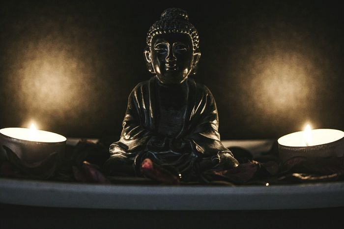 ~ 🌀🔥~ Flame Candle Spirituality Indoors  Burning Sitting Buddha Religion Representation Light And Shadow The Week On EyeEm Getting Inspired Lifestyles Connection Objects Object Photography EyeEm Best Shots Tranquility Tranquil Scene Buddha Statue Buddhism Moment Of Zen Human Representation Love Art And Craft