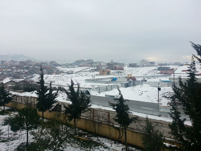 صباح الثلج الأبيض ... أنطاكيا من شرفة منزلي