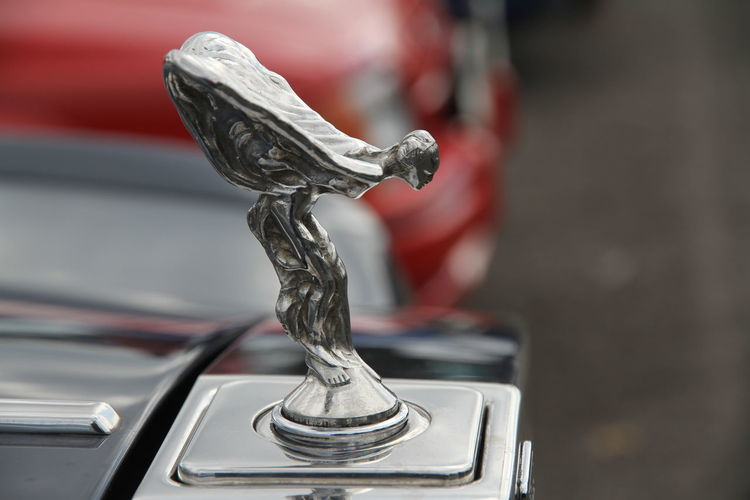 Rolls Royce Spirit Of Ecstasy Badge Close-up Day Focus On Foreground Land Vehicle Mode Of Transport No People Outdoors Transportation