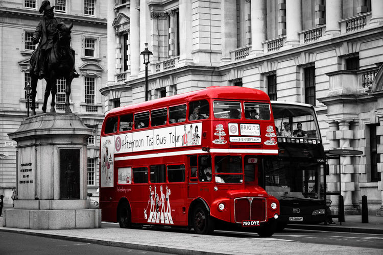 City Red Mode Of Transportation Day Transportation Street Land Vehicle Communication Outdoors Road Double-decker Bus Western Script Building Public Transportation City Life Incidental People EyeEm Eye4photography  London
