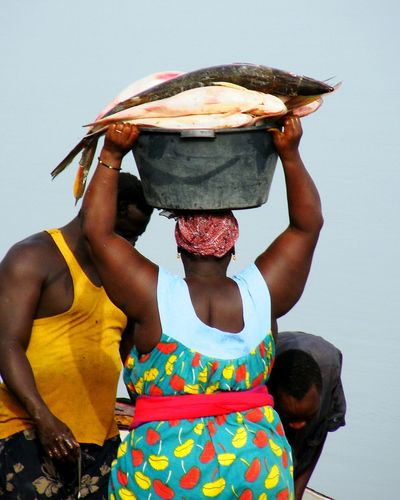 Big Mama Carpaccio Fishing Colors Bissau Guinea Sea Africa African Beauty African Fisherman Bolama Sea And Sky Africa Day To Day Life Adult Only Women One Woman Only One Person Adults Only Women People Young Adult Multi Colored Human Body Part Day Outdoors