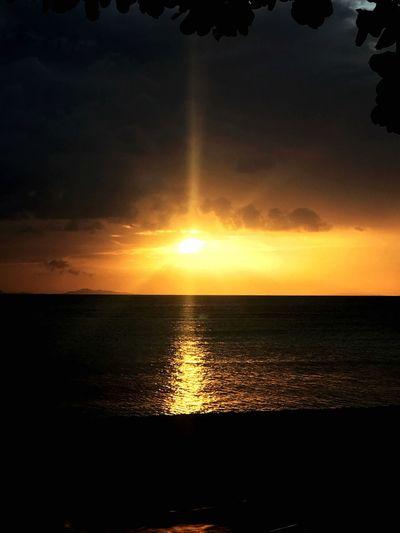 Scenics Tranquility Tranquil Scene Horizon Over Water Beach Sun Reflection