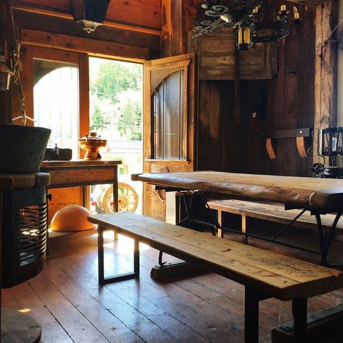 Wood - Material Table Chair Indoors  Window Day House Hardwood Floor No People Furniture Home Interior Old-fashioned Rustic Architecture Open Door