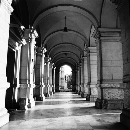 Another image taken with the Pentaconsix The main reason I still love shooting with film cameras is that I just love the nice tones and there is hardly any need to touch it digitally. Budapest Blackandwhitephotography Analog Mediumformat Cityscape Architecture Shadows Blackandwhite
