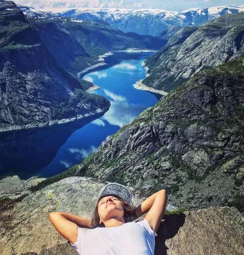 Eyeemphoto Norway Trolltunga High Onthetop EyeEm EyeEm Best Shots EyeEmBestPics People And Places