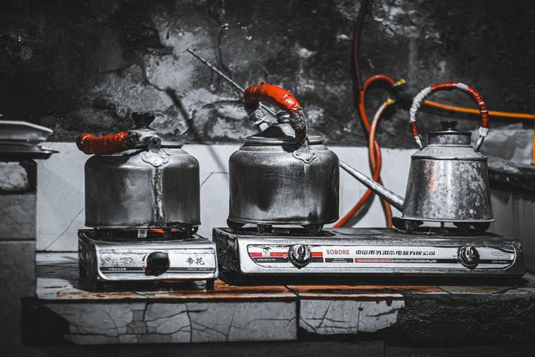 Close-up of machine in kitchen