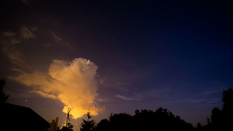 Astronomy Beauty In Nature Cloud - Sky Low Angle View Night No People Non-urban Scene Orange Color Outdoors Power In Nature Scenics - Nature Sky Space Star - Space Tranquil Scene Tranquility