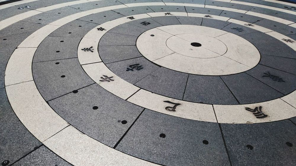 Day Pattern No People Close-up Outdoors Circles Fountain Downtime Square Floor Compass Hole In Floor The Street Photographer - 2017 EyeEm Awards EyeEmNewHere Cardinal Points Cardinal Points Of The Compass