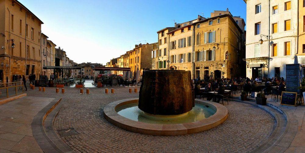 Aix En Provence City Center Fountain Postal Card Public Places