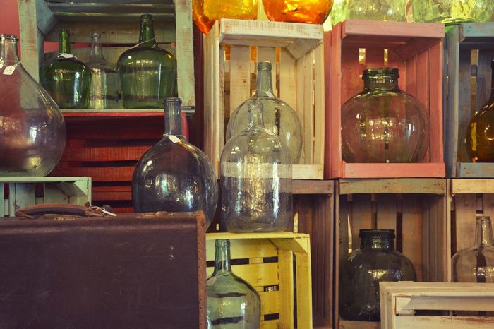Colours&bottles Old-fashioned Home Interior Illuminated No People Indoors  Mercantic Antiques Antiques Market Antiques Photography Wood Bottle Collection Bottle Art Colours Colour Colourful EyeEmNewHere
