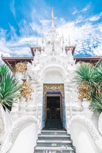 temple blue sky