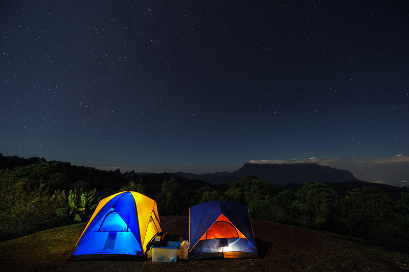 Landscape campsite. Cosmos Starlight Astronomy Astrophotography Beauty In Nature Camping Deep Interstellar Landscape Lifestyles Milkyway Mountain Nature Nebula Night No People Outdoors Scenics Shelter Sky Space Star - Space Tent Tranquility Universe