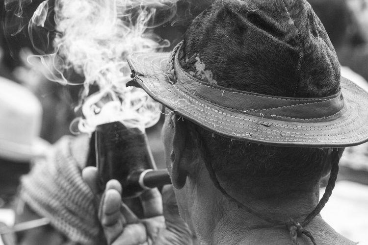 Blackandwhite Pipe Smoke Umbandasagrada Malunguinho Pernambuco People Brazil Pernambuco -Brazil