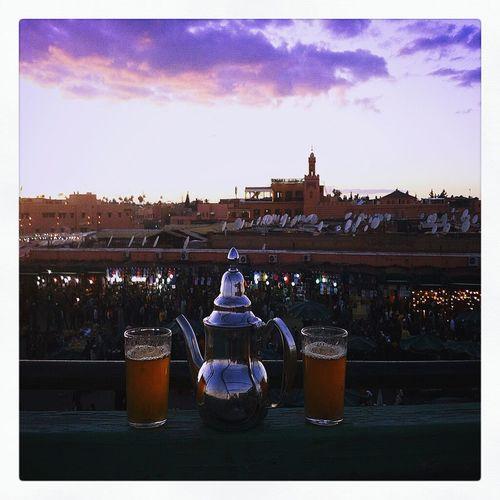 Tea Time Jamaa_lefna Marrocco Enjoying Life View From The Balcony