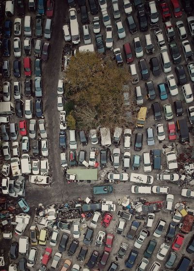 Decadence II No People Dji Dji Spark DJI X Eyeem Drone  Dronephotography Aerial View Aerial Cars Parked Parking Oldcars Chaos Tree Pollution Backgrounds Full Frame