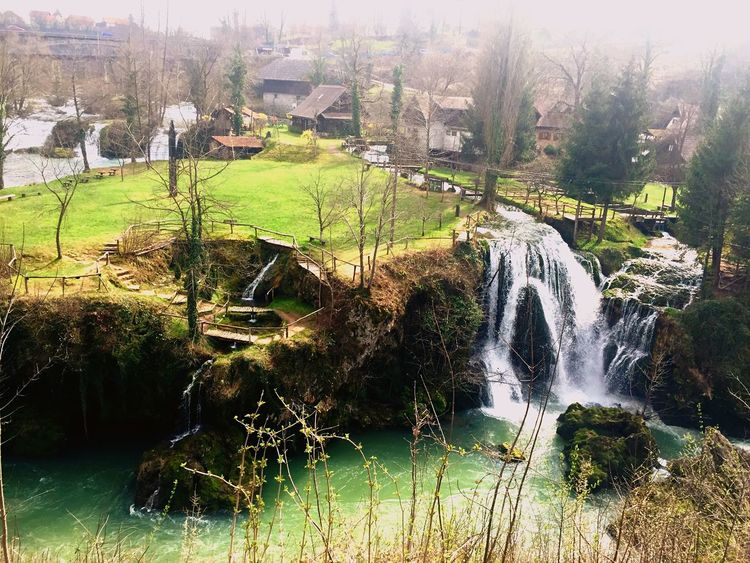 Fairytale town Nature Water Beauty In Nature Tranquility Flowing Water Built Structure Waterfall Croatia Lakehouse Oldmill Adapted To The City