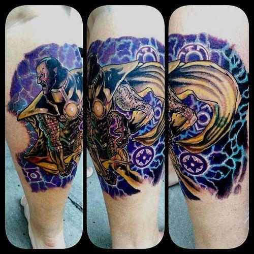 Background done on sinestro Sinestro Green Lantern  Dccomics Freehand Check This Out Tattoo Fullcustomtattoo Mrttattoo Tattooartist  Torstenmatthes
