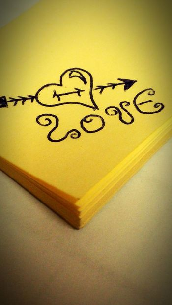 Post It Notes Drawing ✏ Message To Love
