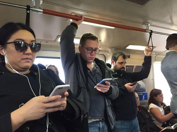 Alone together. Transportation Mode Of Transport Passenger Commuter Public Transportation Subway Train Nofilter Commuters NoTalking Electiondepression